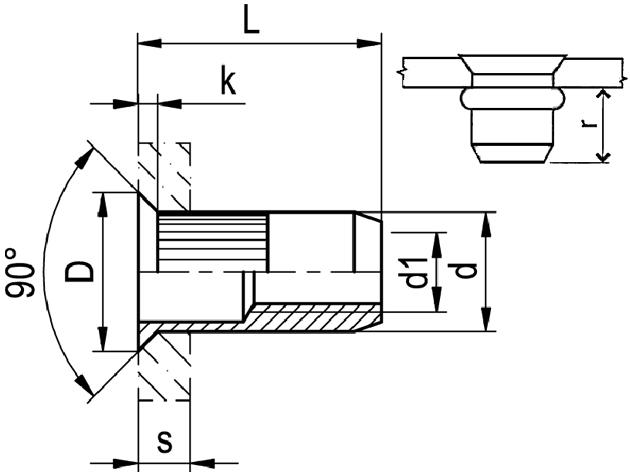 Nytovaci Matice M 8 A2 1 5 4 5 Otevrena Ryhovana Se Zapustnou Hlavou