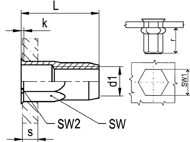 Nytovaci Matice M 6 St 3 0 6 0 1 2 Sestihranna Otevrena S Malou