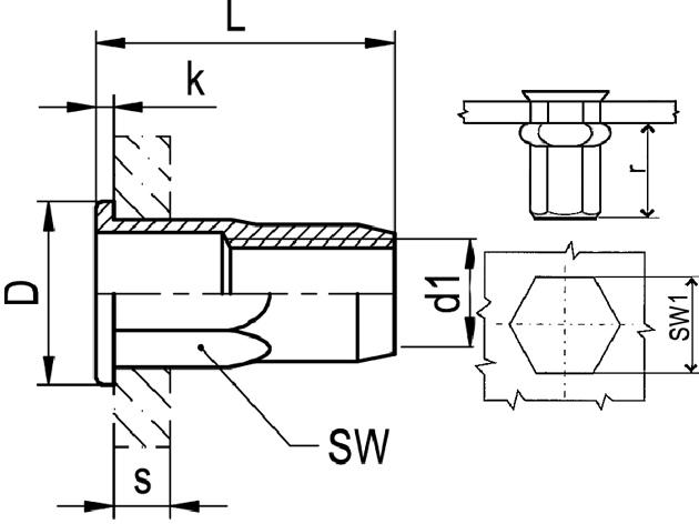 Nytovaci Matice M 6 A2 0 5 3 0 1 2 Sestihranna Otevrena S Plochou