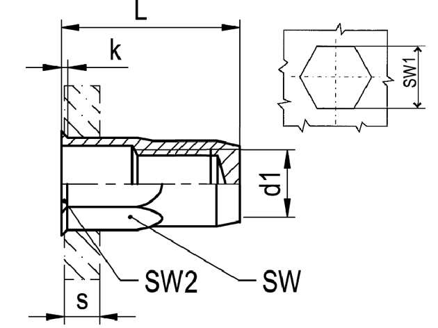Nytovaci Matice M 8 A2 0 5 3 0 1 2 Sestihranna Uzavrena S Malou